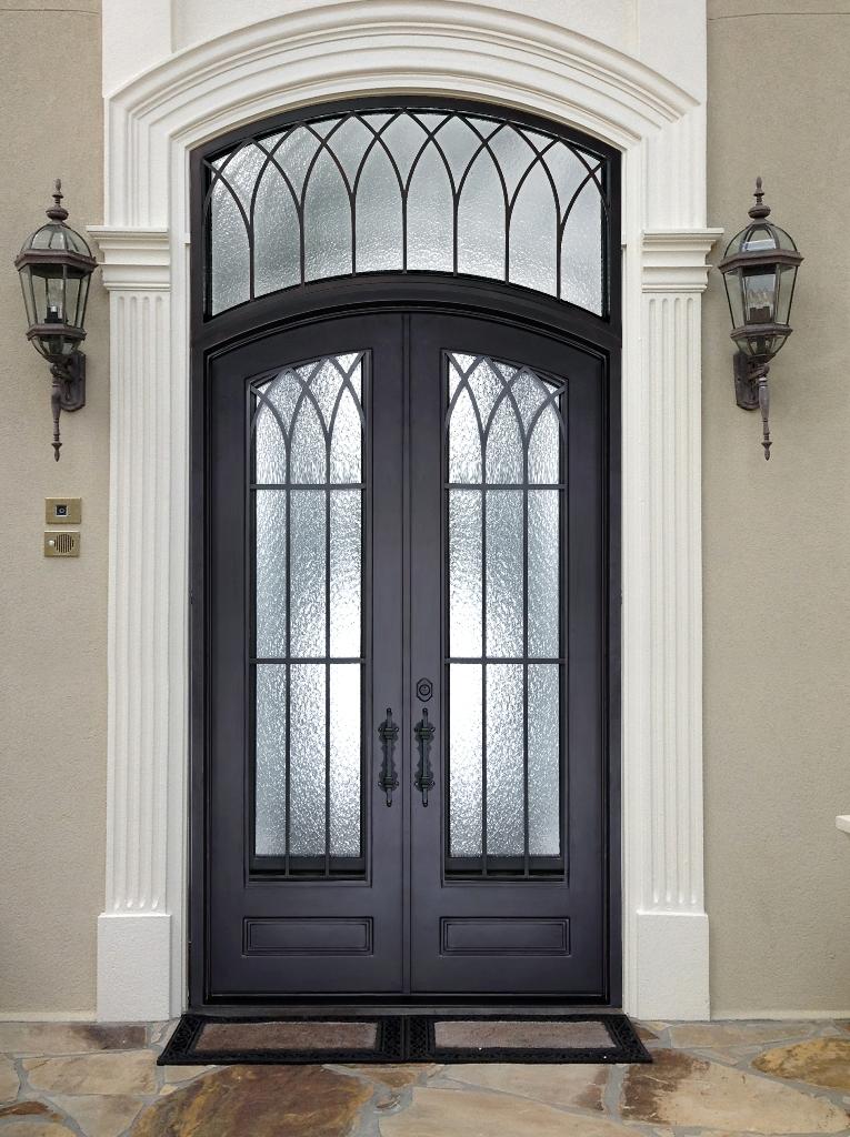 D73075 Double Iron Door Enzo Abby Iron Doors