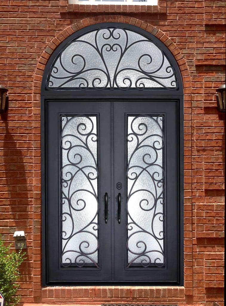D72621 Double Iron Door Jolee Abby Iron Doors
