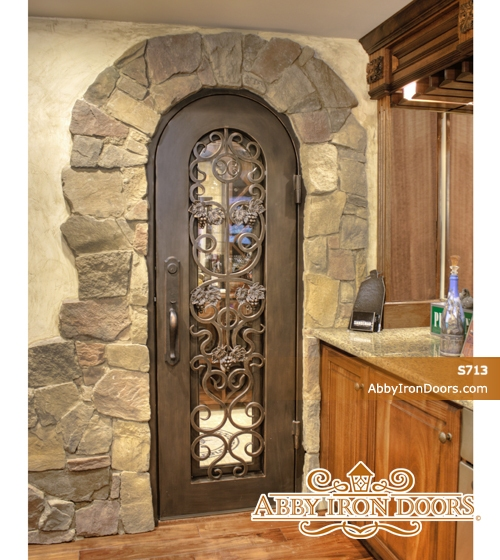S713 Iron Wine Cellar Door Abby Iron Doors