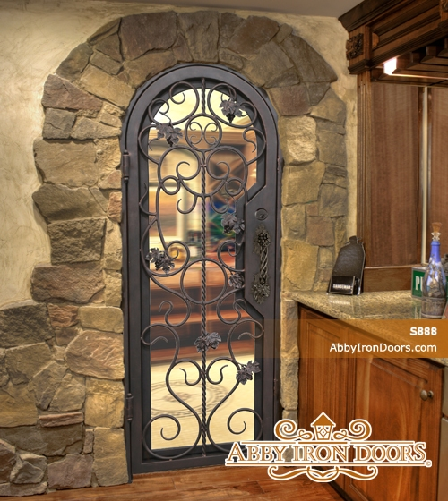 S888 Iron Wine Cellar Door Abby Iron Doors