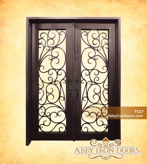 T117 \u2013 Double Iron Entry Door & T117 - Double Iron Entry Door - Abby Iron Doors