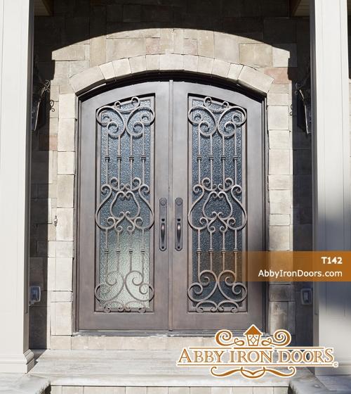 T142 \u2013 Double Iron Entry Door & T142 - Double Iron Entry Door - Abby Iron Doors